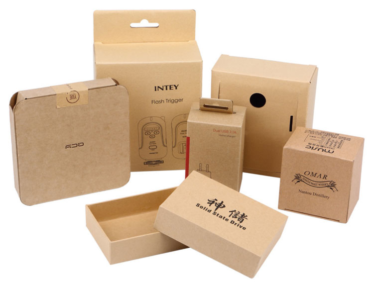 kraft cardboard packaging boxes samples
